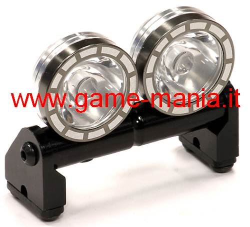 Light bars and flashers zen cart the art of e commerce 2 lights gunmetal alloy etched light bar integy leds included mozeypictures Images