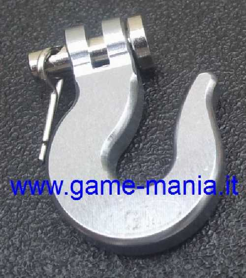 Gancio x verricello 1:10 IN LEGA anodizz. ARGENTO by Game-Mania