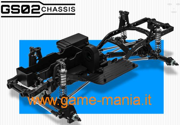 Gmade GS02 TS kit scaler 1:10 ammo verticali 313mm