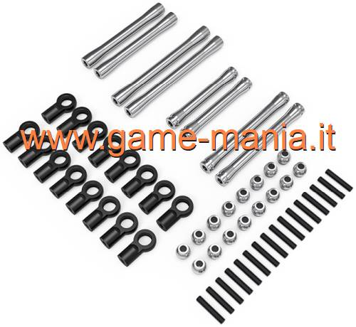 Set links IN LEGA per Tamiya CC-02 passo 267mm by Gmade