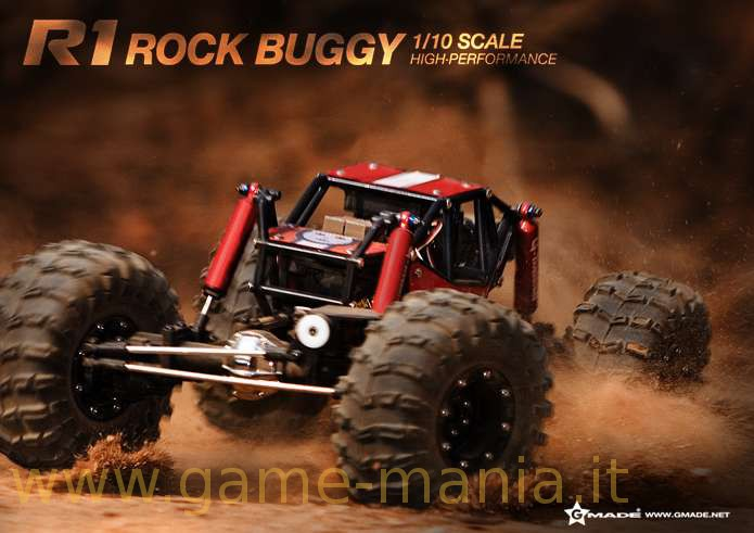 Gmade R1 Rock Buggy: crawler-racer tubolare 2.2 in kit