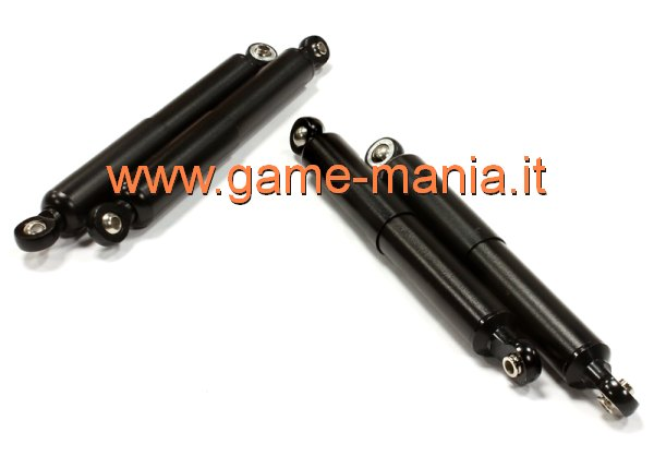Ammo schermato 92mm (x4) a molla interna in lega NERI by Integy