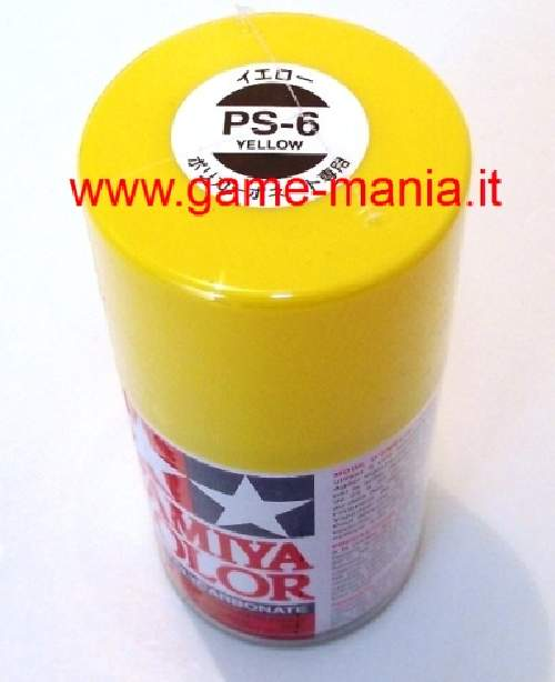 Vernice spray GIALLO PS-6 per lexan by Tamiya