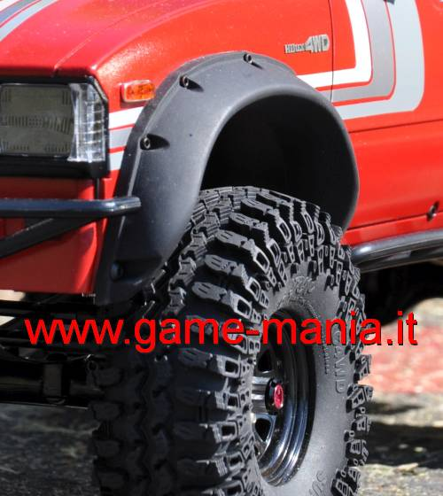 Passaruota realistici (4) in GOMMA per Hilux/Mojave by RC4WD